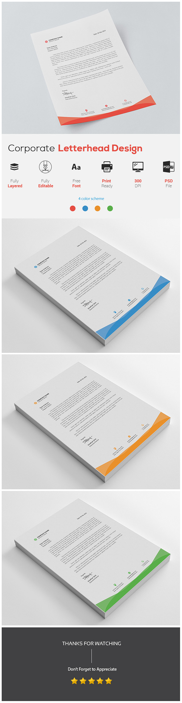 Corporate Letterhead Template On Student Show