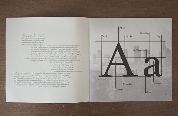 Zuzana Licko Booklet on SCAD Portfolios