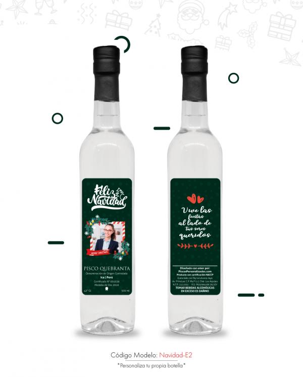 Detalles personalizados feliz navidad piscos personalizados regalos corporativos  regalos personalizados
