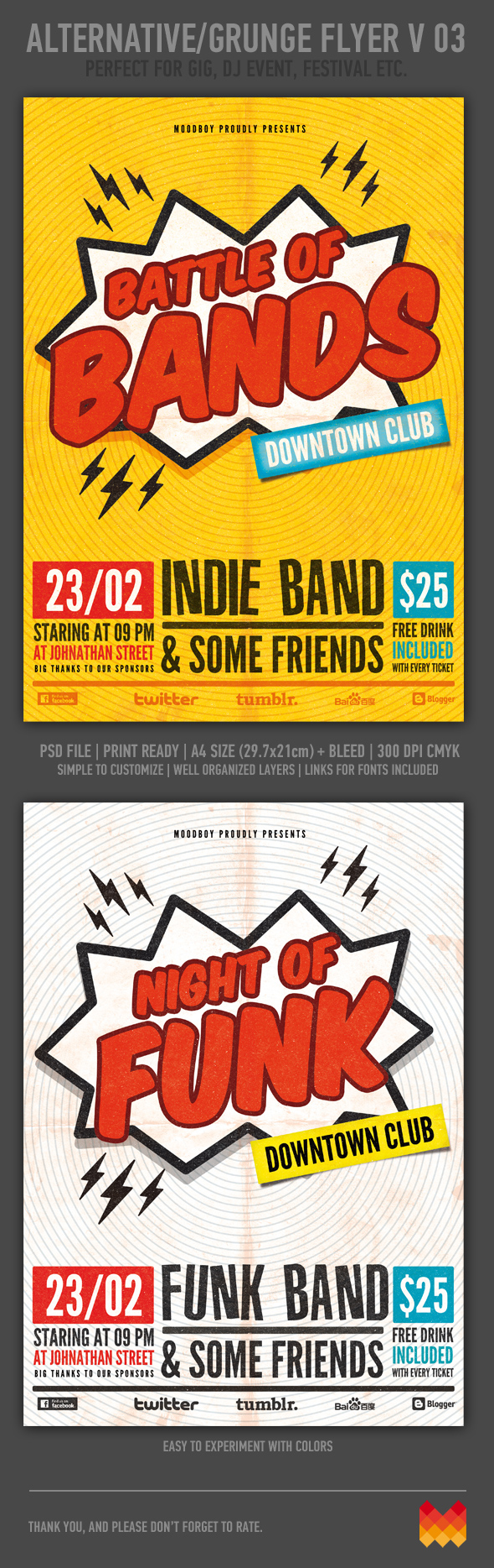 Battle Of Bands Flyer Template On Behance
