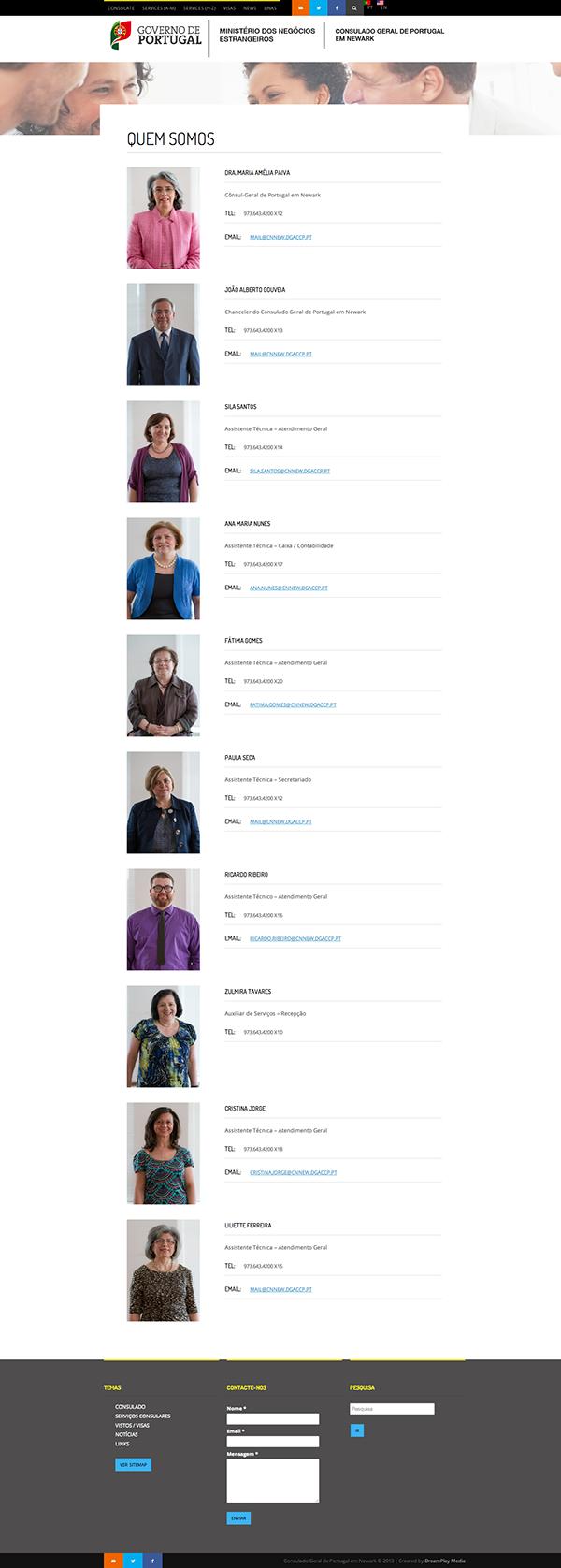 Web: Government of Portugal - Newark Consulate