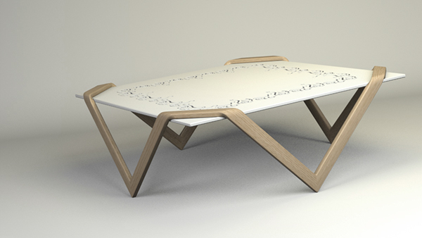 Bentwood Coffee Table On Behance