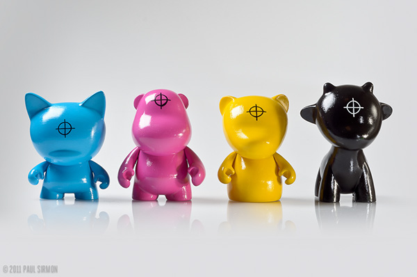 CMYK process Printing vinyl toy toys Munny