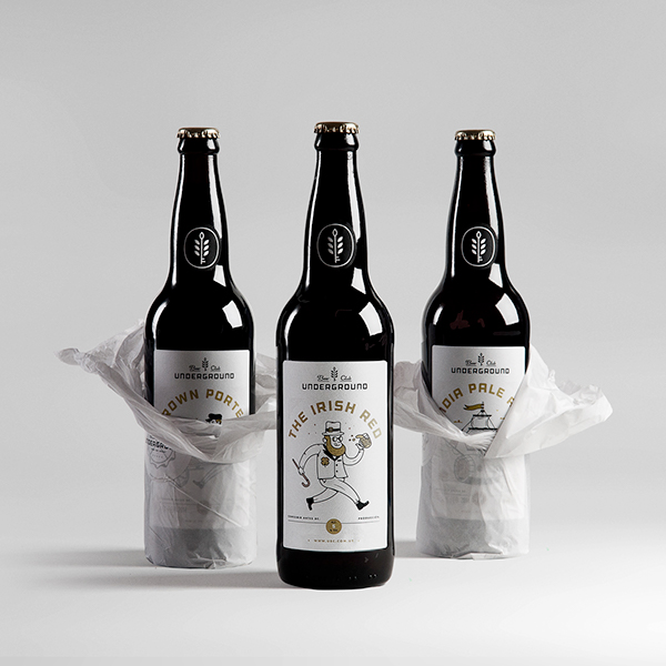 Packaging design inspiration #16 - UNDERGROUND BEER CLUB by Mundial