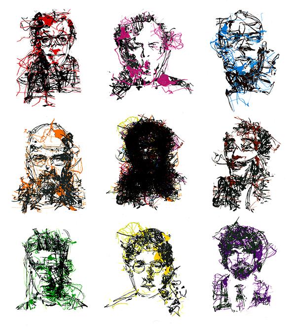 Porträt breaking bad Celebrity actors abstract spontaneous random dali men movie