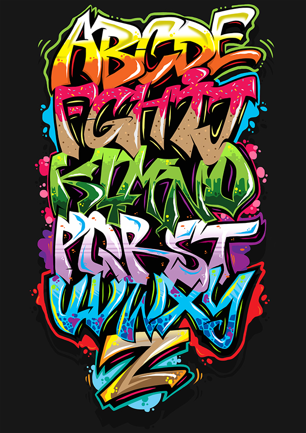 Alfabet Graffiti graffiti alphabet on behance