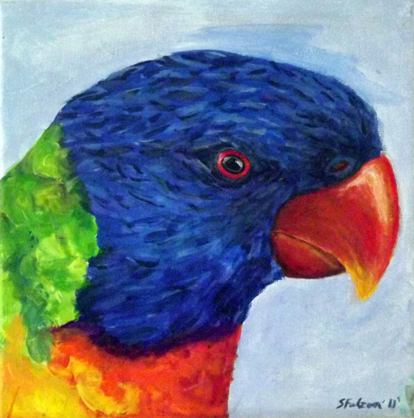 Acrylic paintings animals on behance for Easy acrylic animal paintings