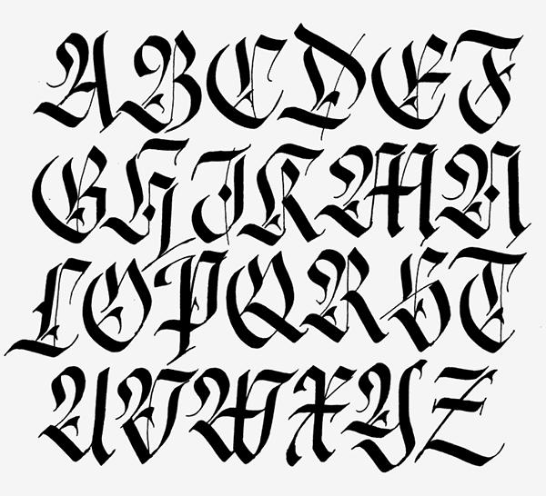 Fraktur Alphabet On Behance
