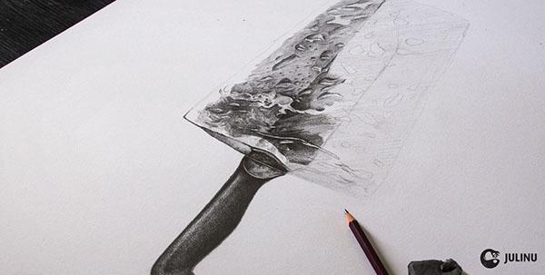 Lolly ice knife Radical Transformation droplets julinu julian mallia