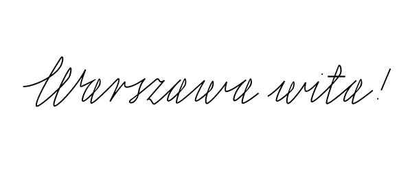 neon warsaw lettering