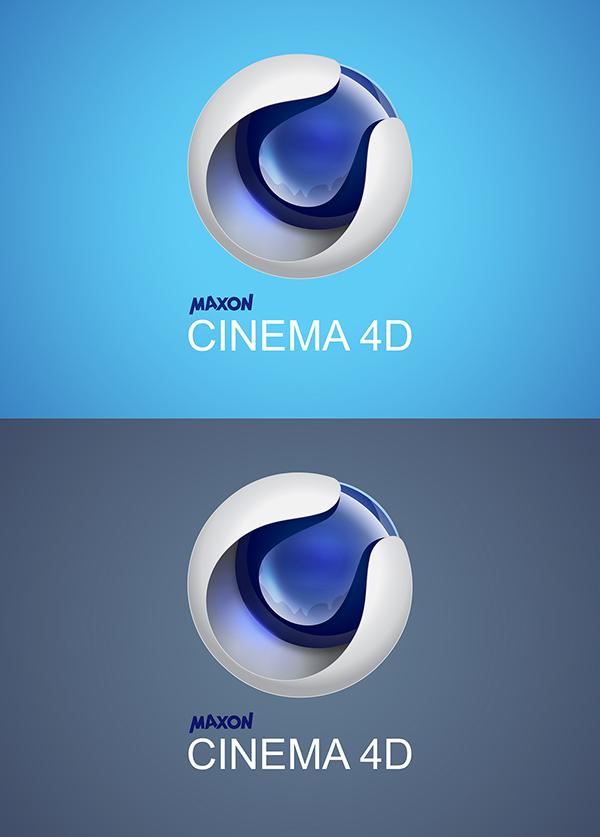 "Redesign 3D Logo ""Cinema 4d"" with illustrator on Behance  Redesign 3D Log..."