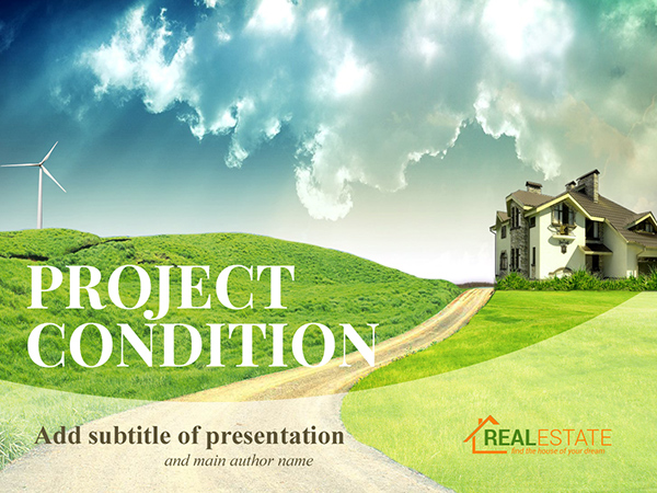free realestate agency powerpoint presentation template on behance