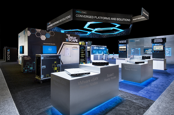 Dell Emc Trade Show Booth At Emc World 2017 On Behance