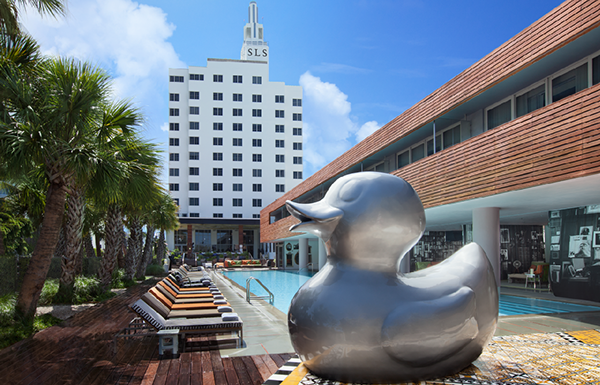 SLS Hotel Miami Beach Duck Sculpture on Behance