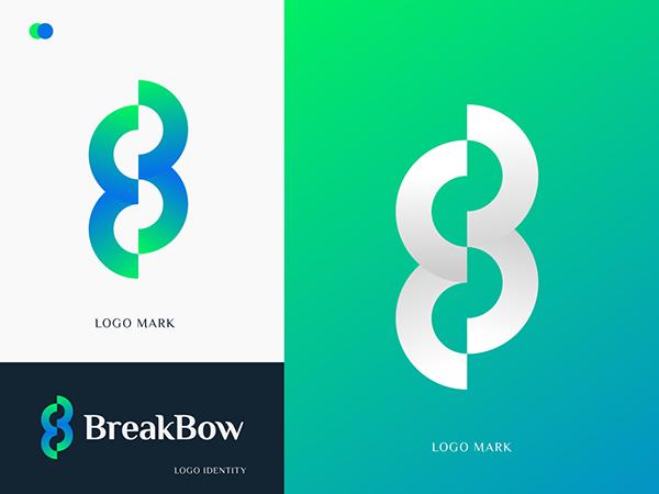 B modern letter logo | B logo | Logo design - Unused