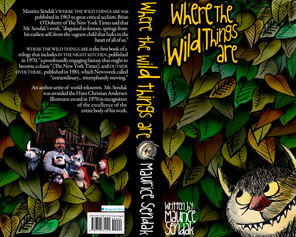 Book Cover Redesign   quot Where The Wild Things Are quot Where The Wild Things Are Book Cover