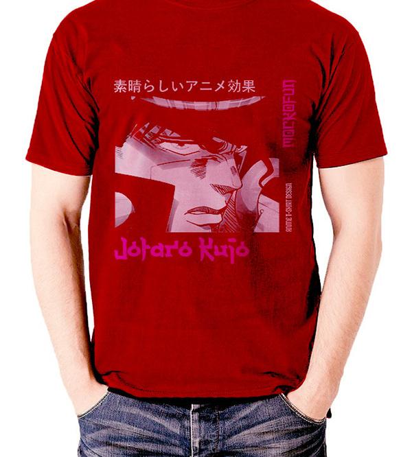空条承太郎の赤いシャツのデザイン