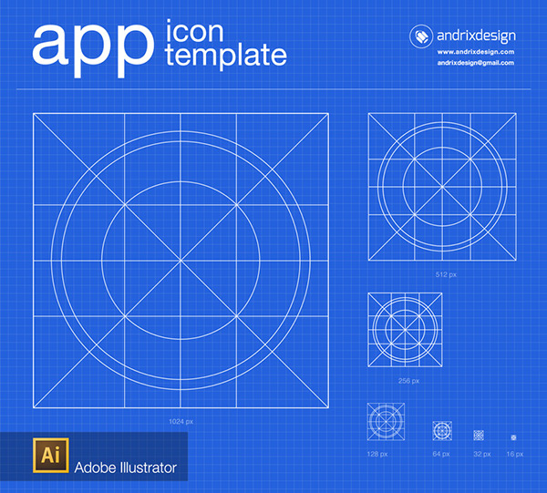 App icon template on Behance