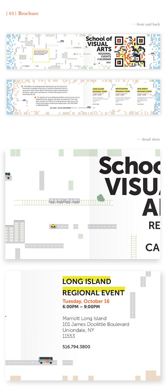 poster  graphic design sva QR Code brochure map illustration New York type print graphic vector