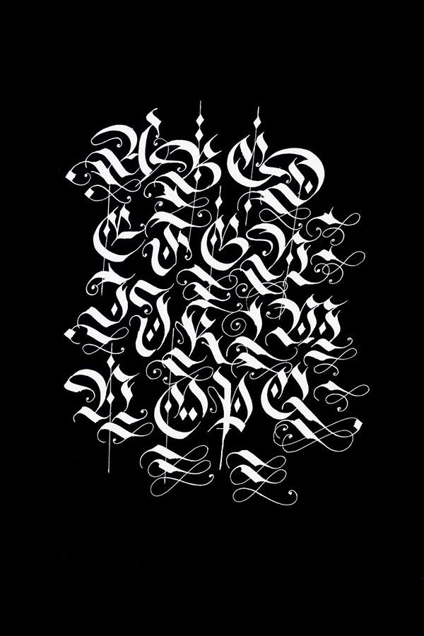 Blackletter Fraktur Alphabets On Behance