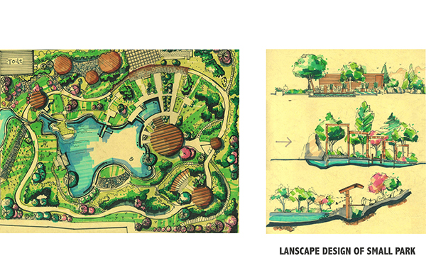 Landscape Design Of Small Park