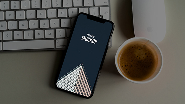 Modern iPhone mockup for free download