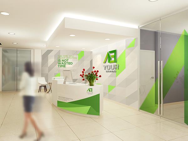 Office Branding Mockups V5 On Pantone Canvas Gallery