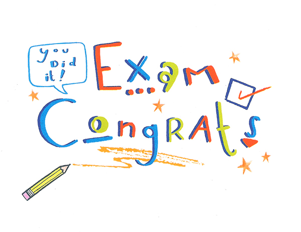 Congratulations Cards For Success in Exams Exams Congratulations Card