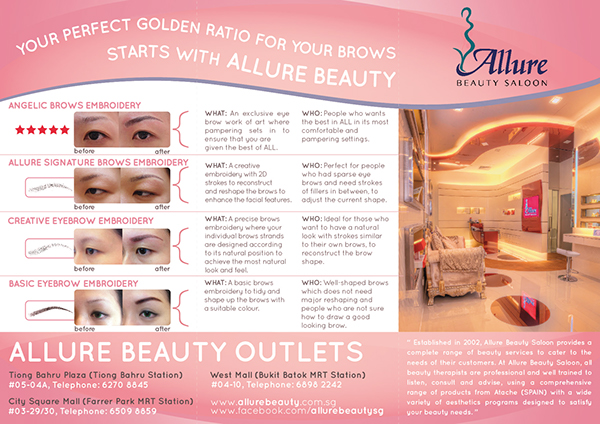 Allure beauty salon brochure design on behance for Allure hair salon