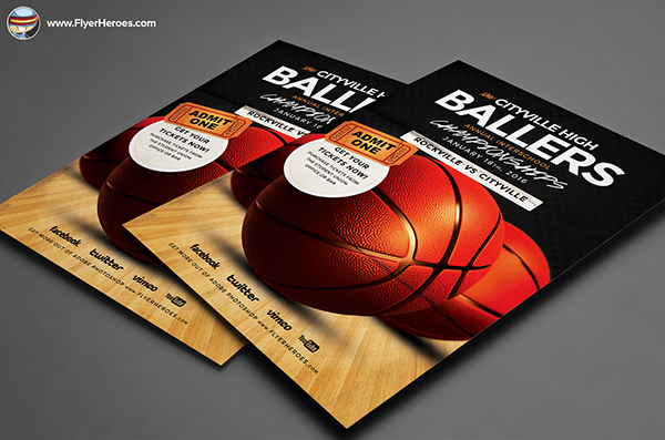 basketball tournament program template - basketball flyer template on behance