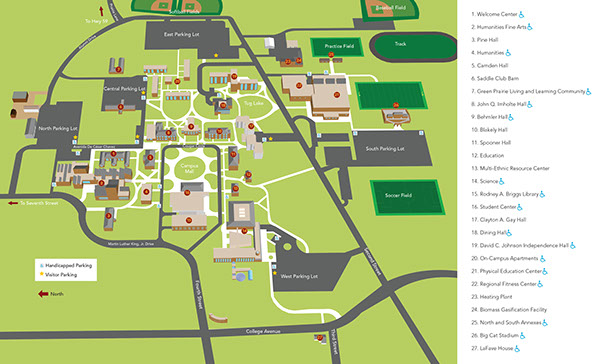 u of mn campus map University Of Minnesota Morris Campus Map Brochure On Behance u of mn campus map
