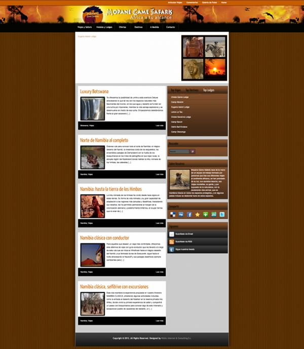 diseño,Web,grafico,viajes,empresa,mopane,safaris