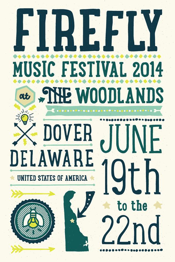 Firefly Music Festival Poster on Behance
