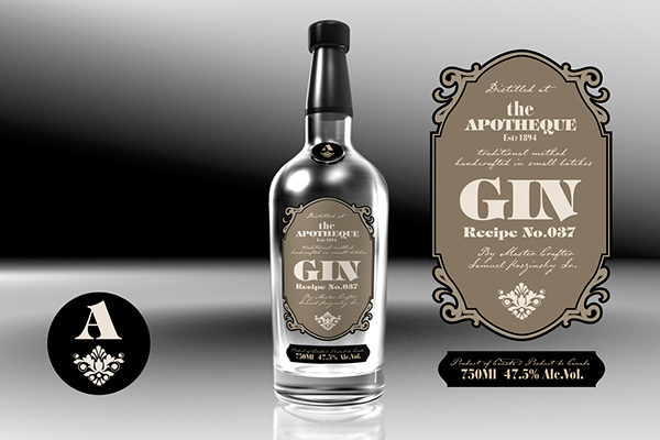 Label Design Vancouver Gin Labels On Pantone Canvas Gallery
