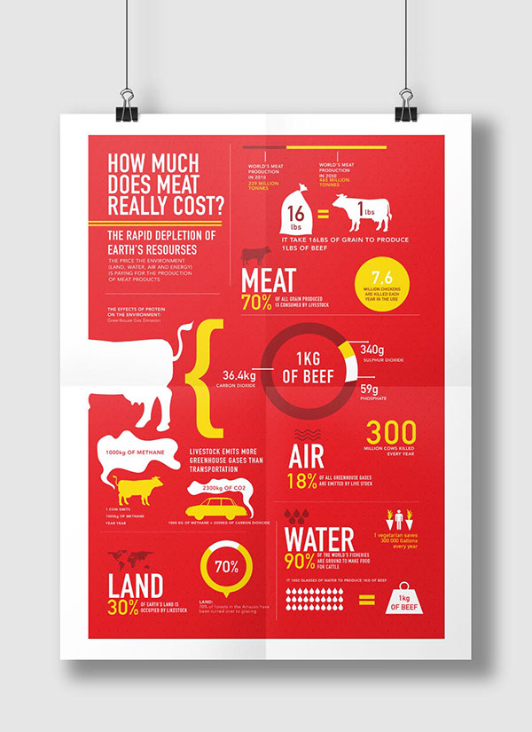 Infographic - How Much Does Meat Really Cost? on Behance