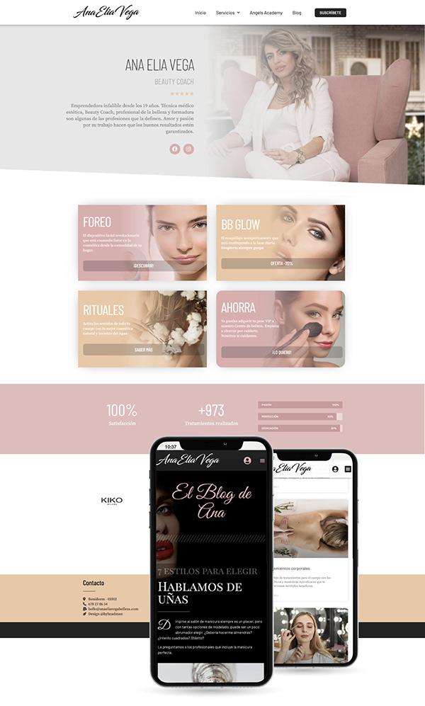 Diseño web Beauty