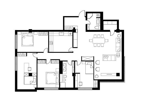 Варианты перепланировок двух квартир