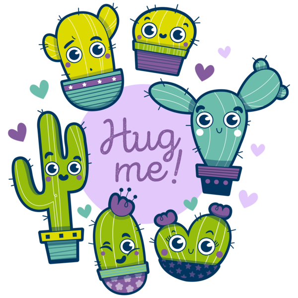 cactus kawaii infantil ilustracion cute photoshop Illustrator merchandising