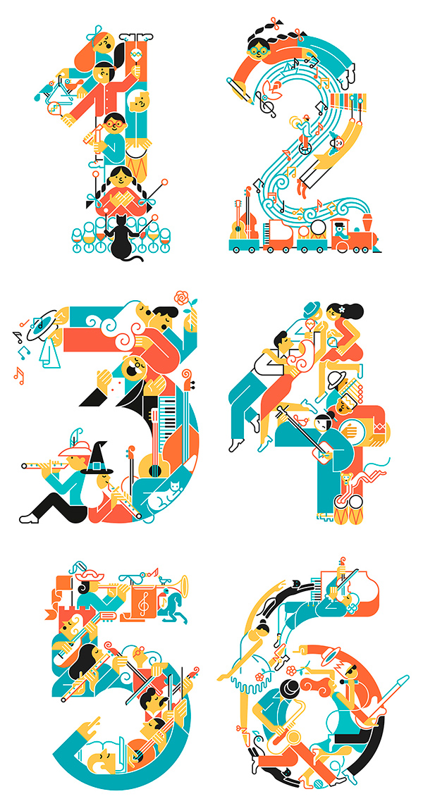 Music Numbers On Behance