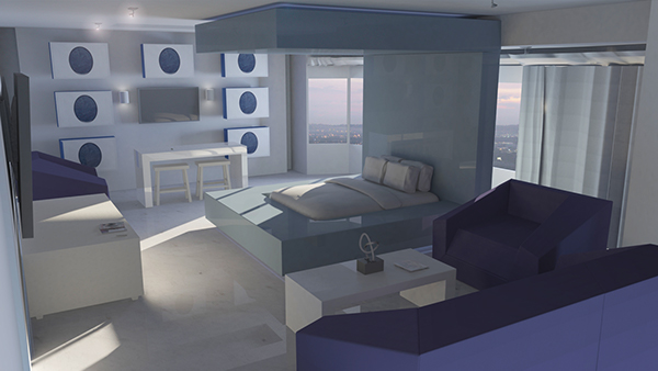 3d Architectural Render Real Light Simulation On Philau