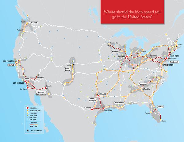 America Transportation Maps On Behance - Us megaregions map