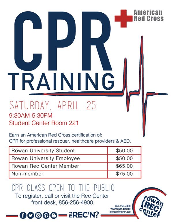 Rowan University Cpr Certification Class Training On Behance