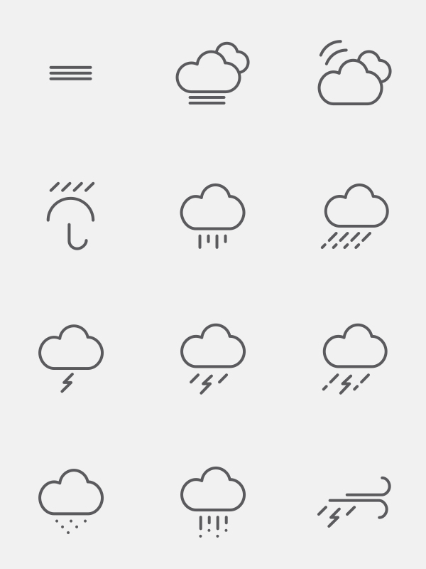 vector ai psd freebies shape weather icons free app time