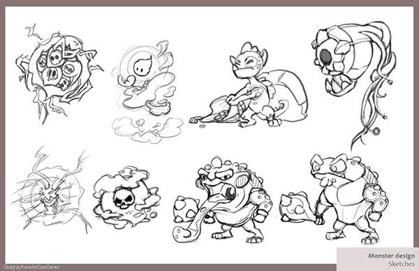 Cuve Team QuestRun video game monster design