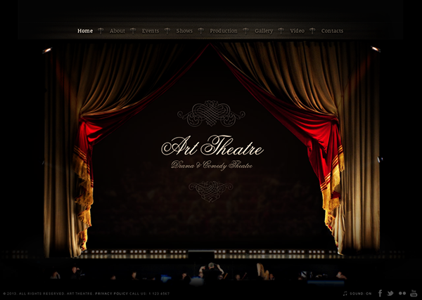 Drama & Comedy Theatre HTML5 Template 300111610 on Behance