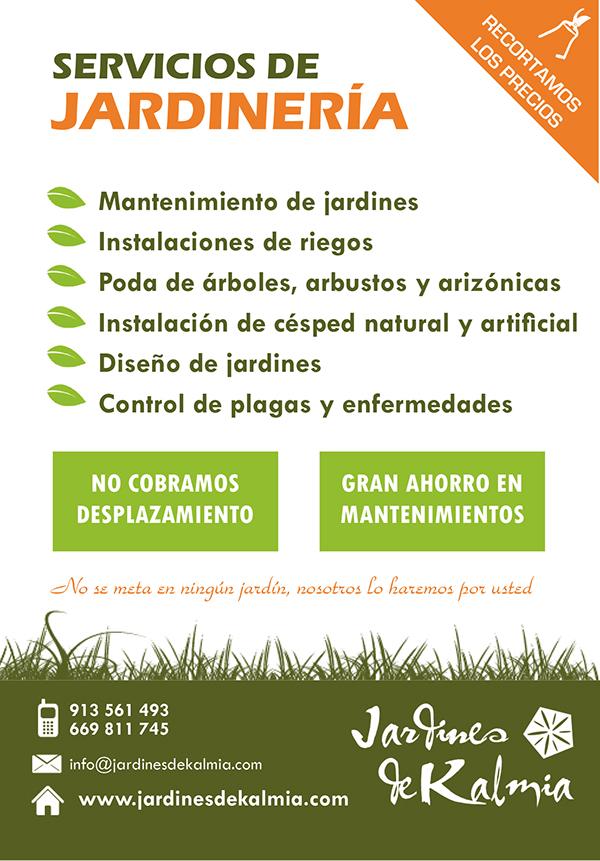 2013 panfletos jardines de kalmia on behance for Empresas de jardineria