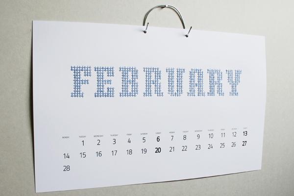calendar 2011 Embroidery Calendar
