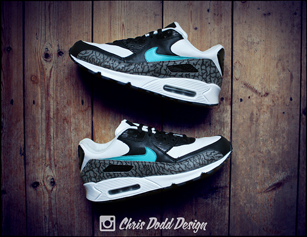 Atmos x Nike Air Max 90 'Elephant Print' Custom. on Pantone
