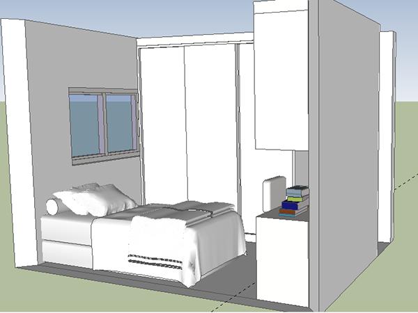 Ambientes Planejados on Behance ~ Quarto Solteiro Compacto