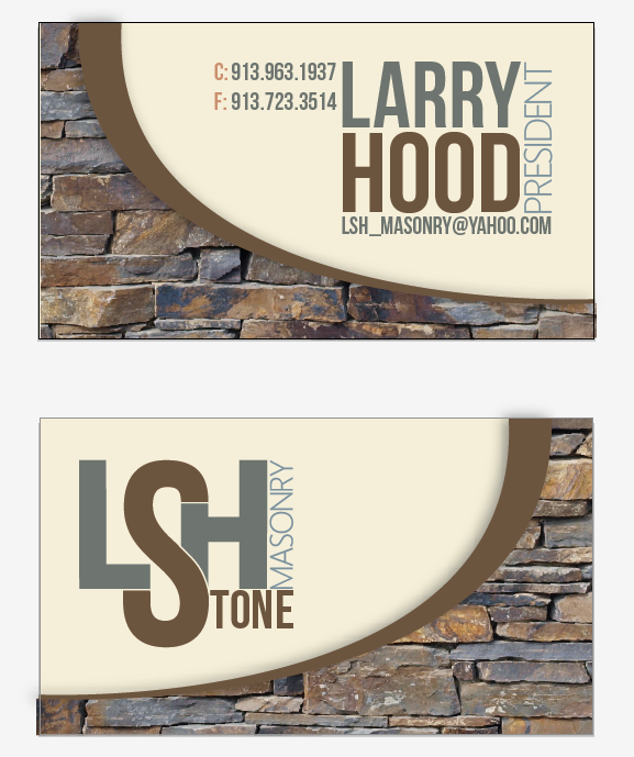 Lsh masonry business cards on behance for Masonry business card ideas